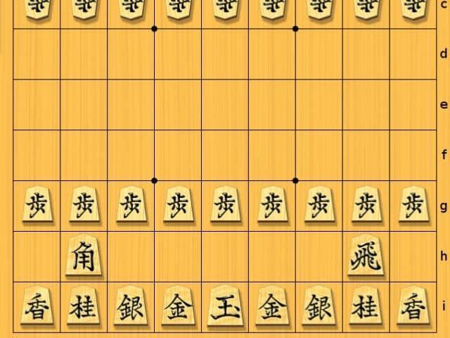 Tablero de shogi con sus piezas